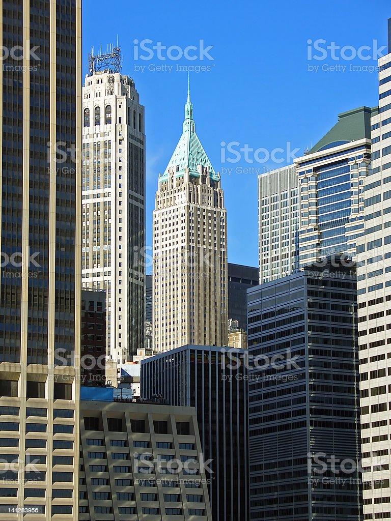 Financial district, Manhattan, New York royalty-free stock photo