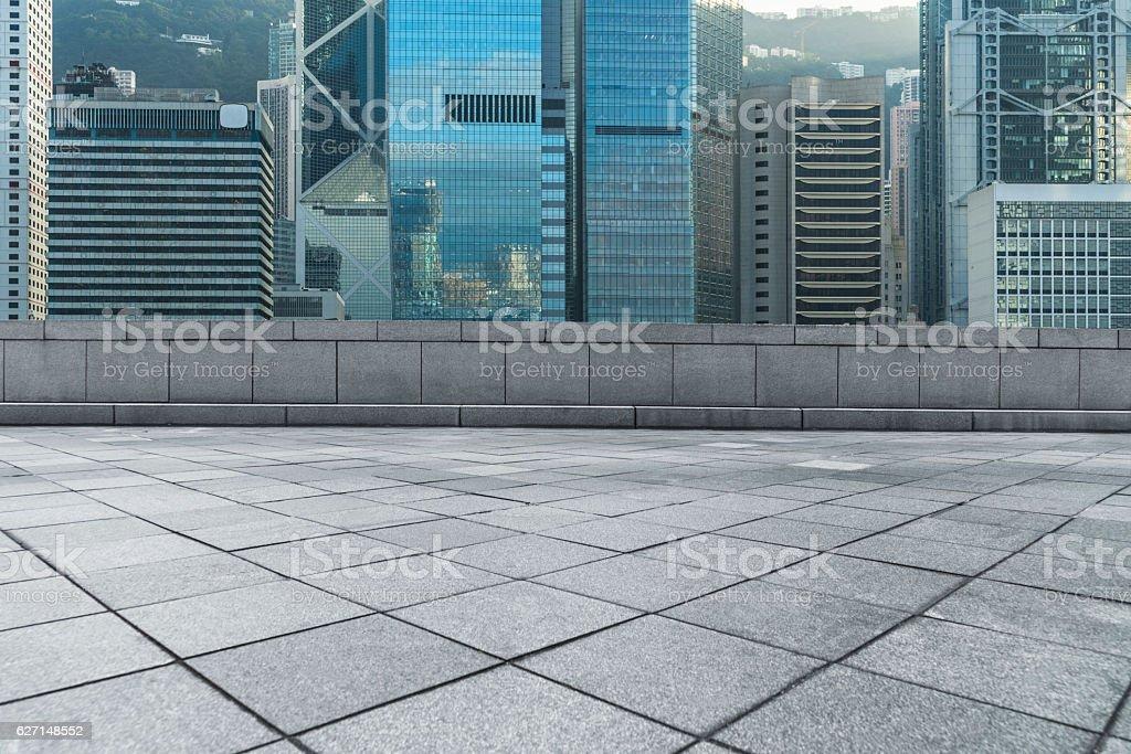 financial district of Hong Kong stock photo