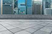 financial district of Hong Kong