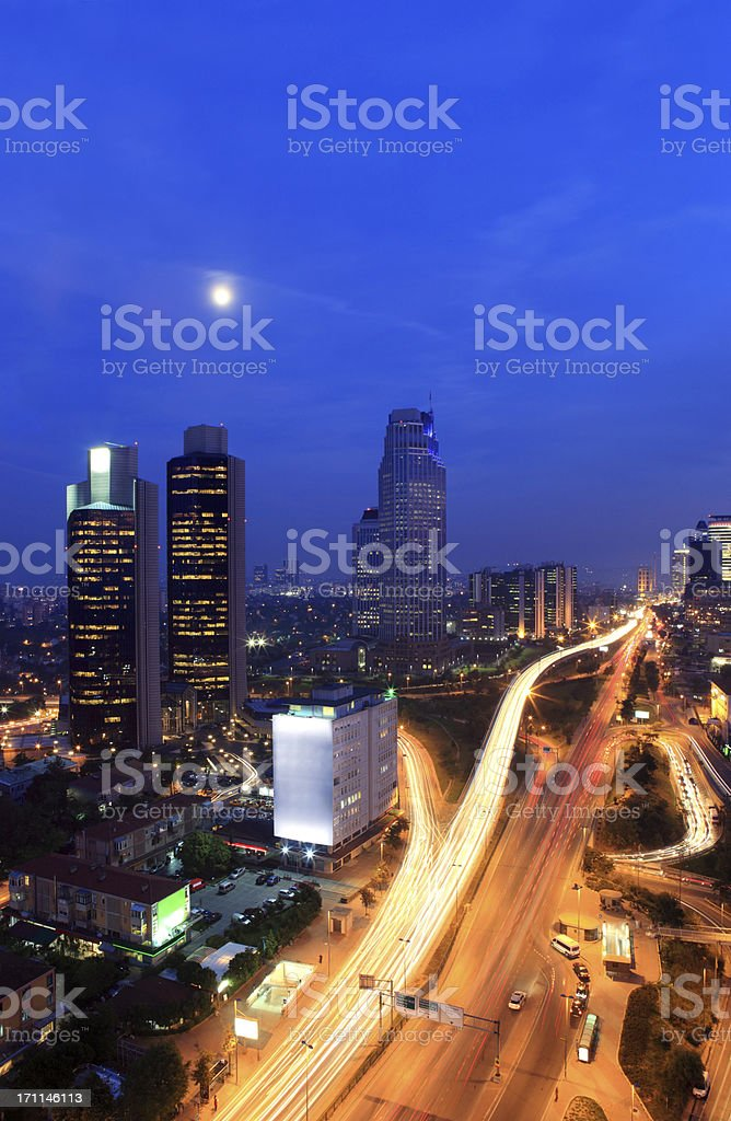 Financial District of Istanbul royalty-free stock photo