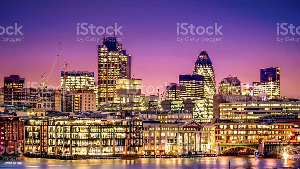 Financial District of London stock photo