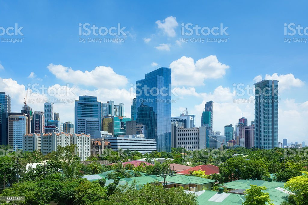 Financial district of Makati, Manila, Philippines stock photo
