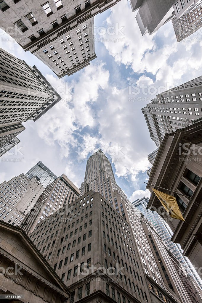 NYC Financial District stock photo