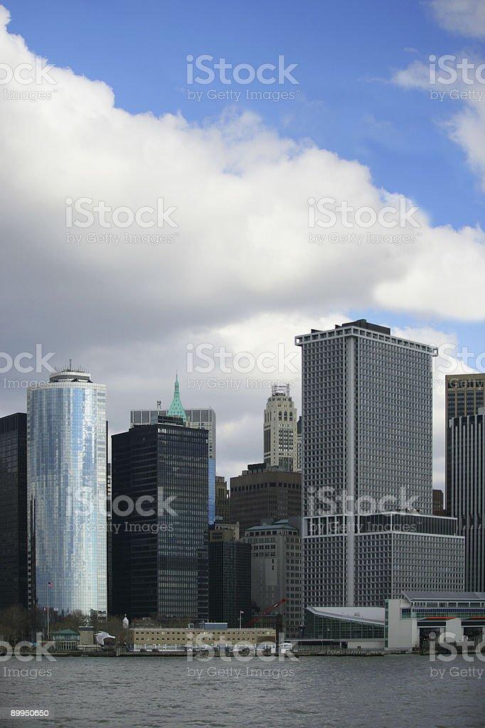 NY financial district royalty-free stock photo