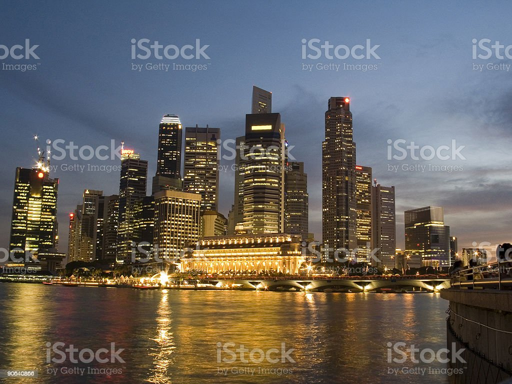 Financial District Singapore royalty-free stock photo