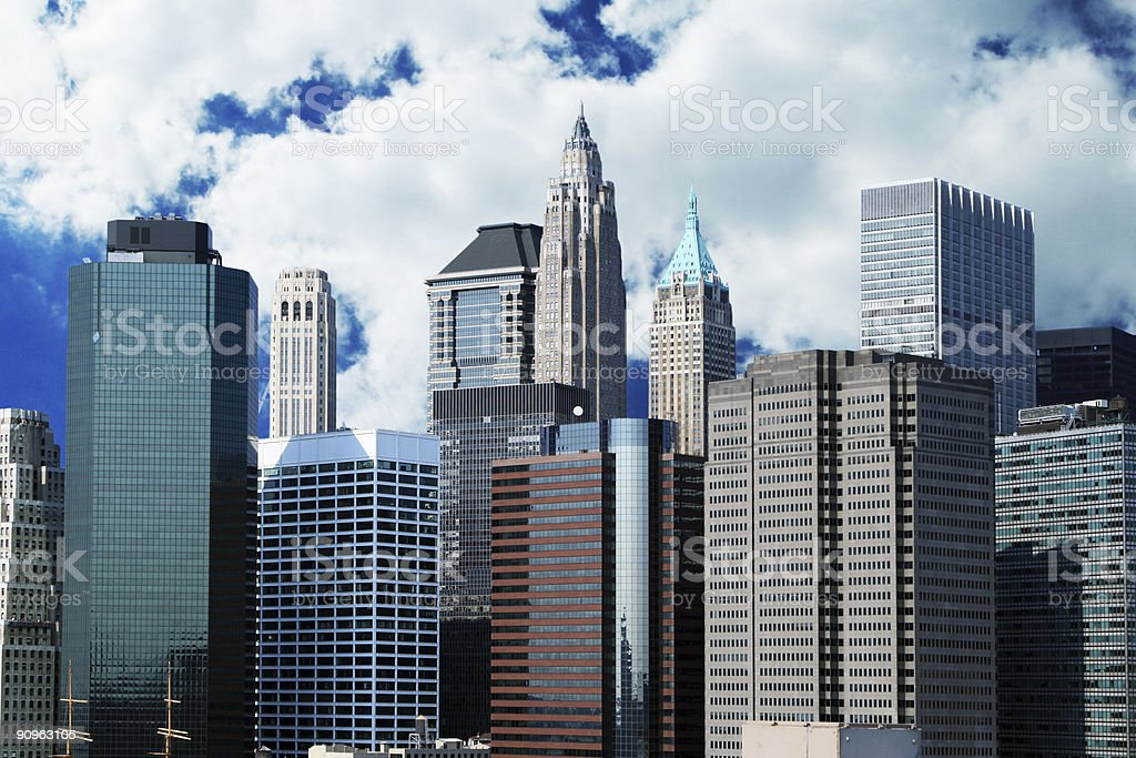 Financial District skyline royalty-free stock photo