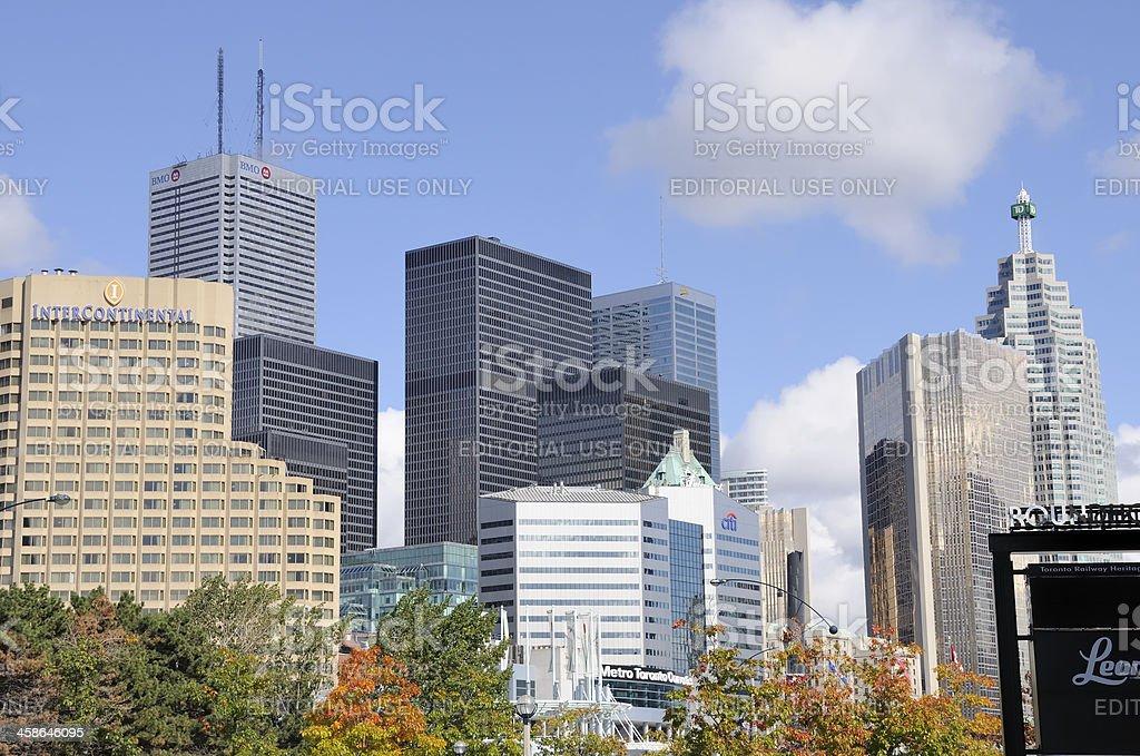 Financial District, Toronto Canada stock photo