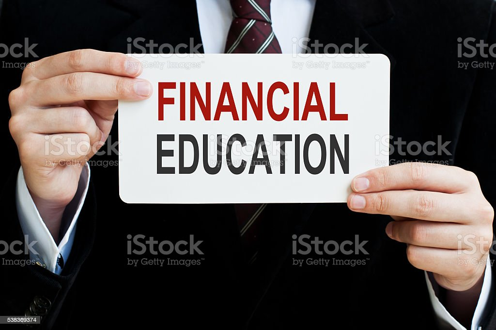 Financial Education stock photo