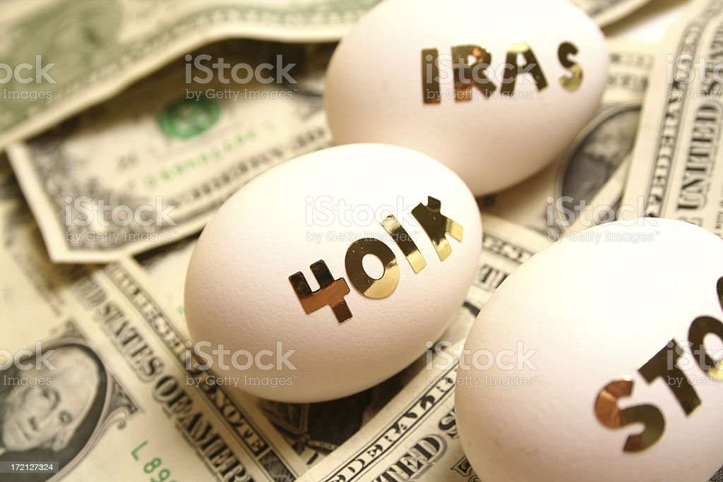 Financial Eggs royalty-free stock photo