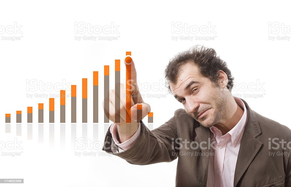Financial evolution royalty-free stock photo