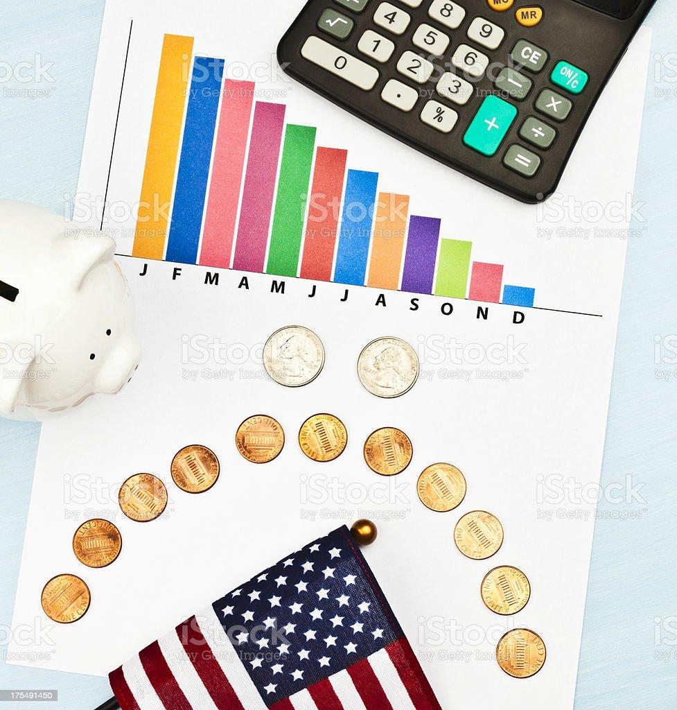 Financial Failure royalty-free stock photo