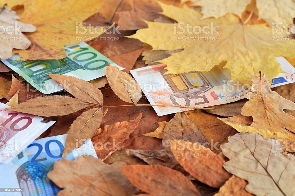 Financial Fall royalty-free stock photo