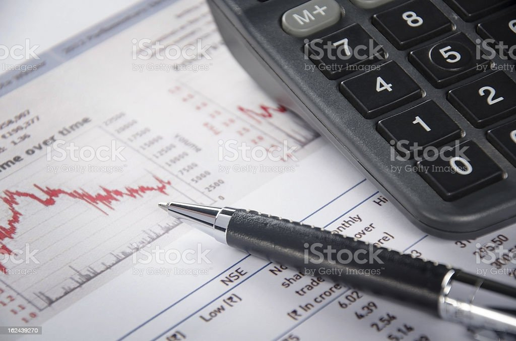 Financial figure royalty-free stock photo