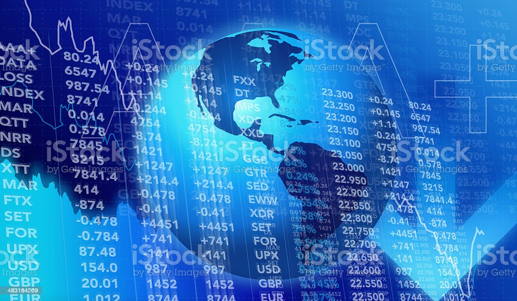 Financial Figures and Graphs Background royalty-free stock photo