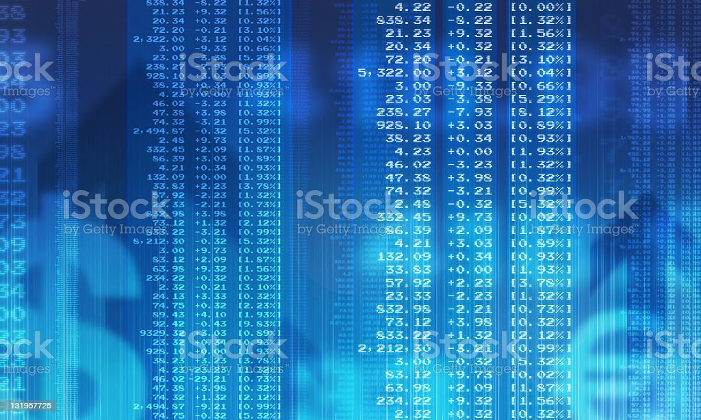 Financial figures stock photo