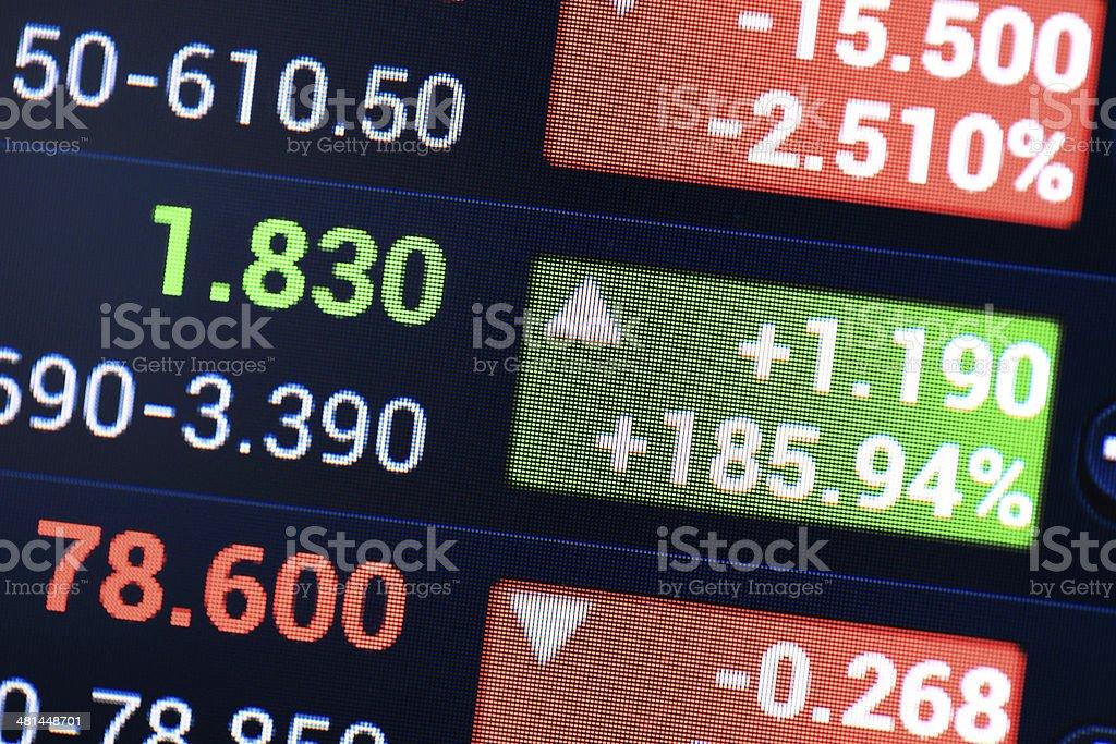 Financial Figures. stock photo