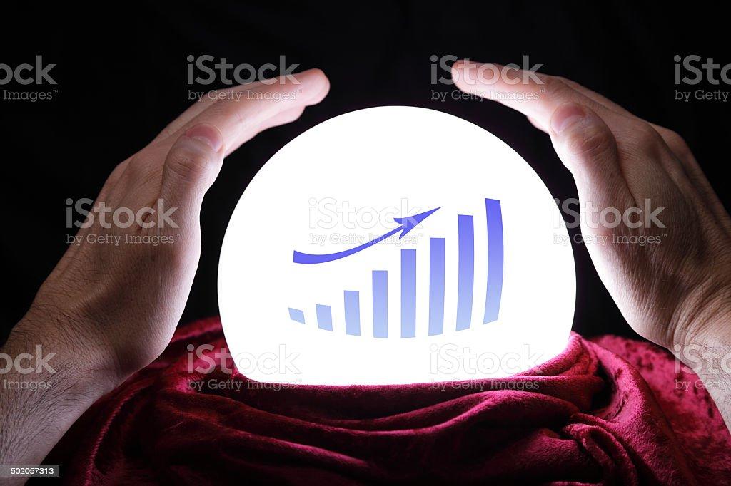 Financial forecast stock photo
