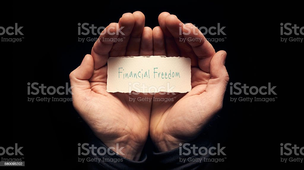 Financial Freedom Concept stock photo