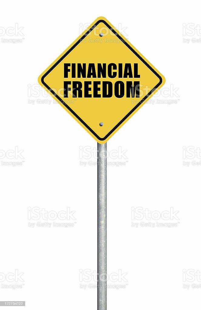 Financial Freedom royalty-free stock photo