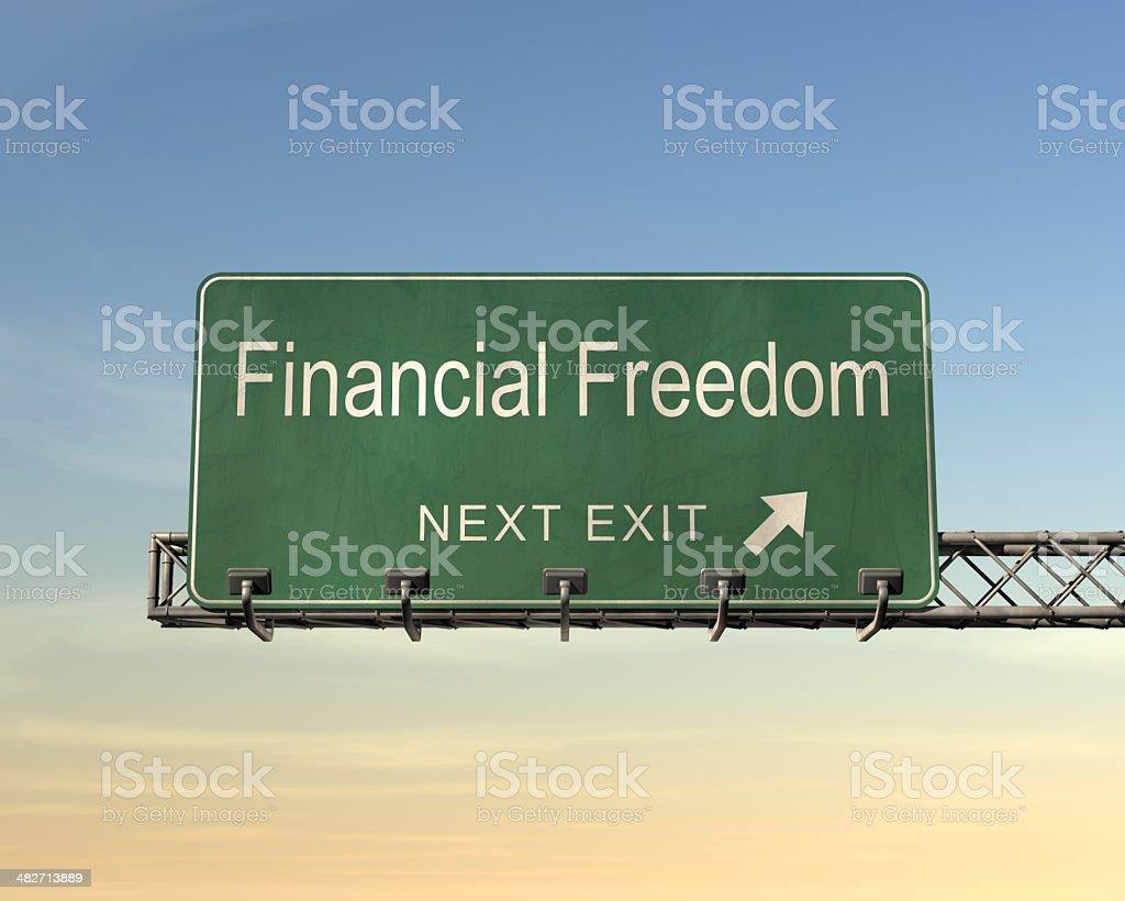 金融自由のサイン ロイヤリティフリーストックフォト