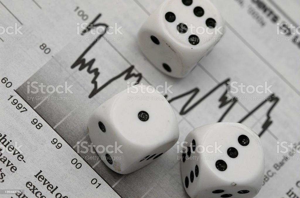 Financial Gamble stock photo