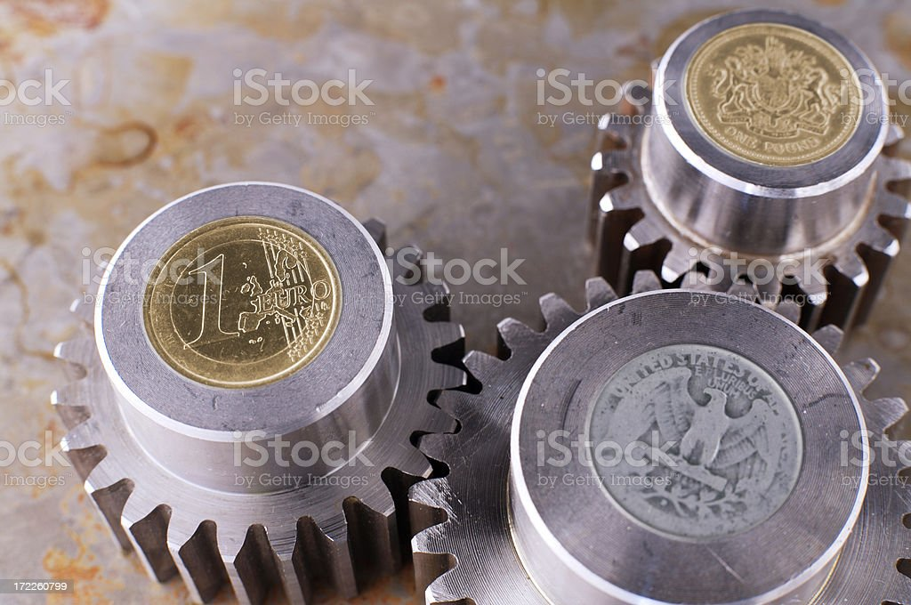 Financial gears royalty-free stock photo