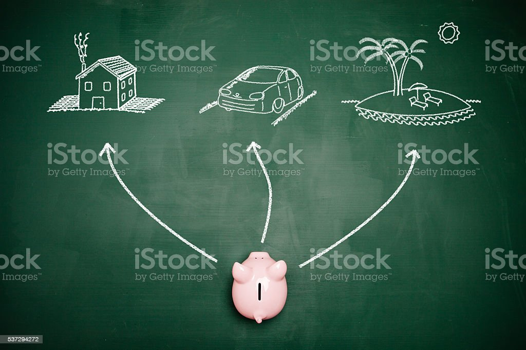 Financial goals stock photo