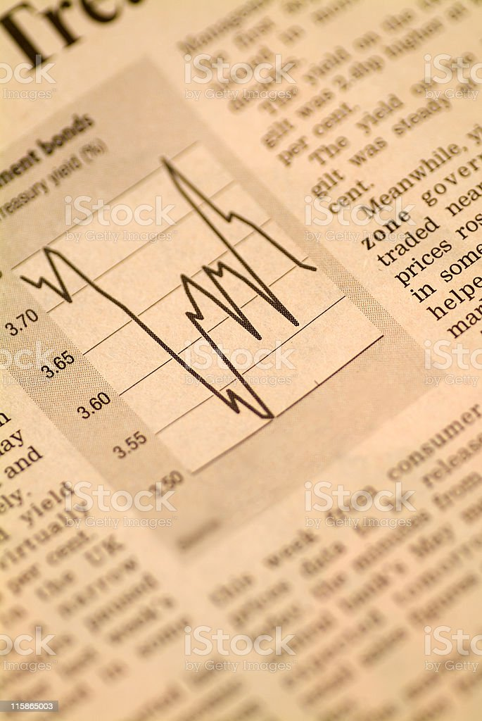Financial graph 02 royalty-free stock photo