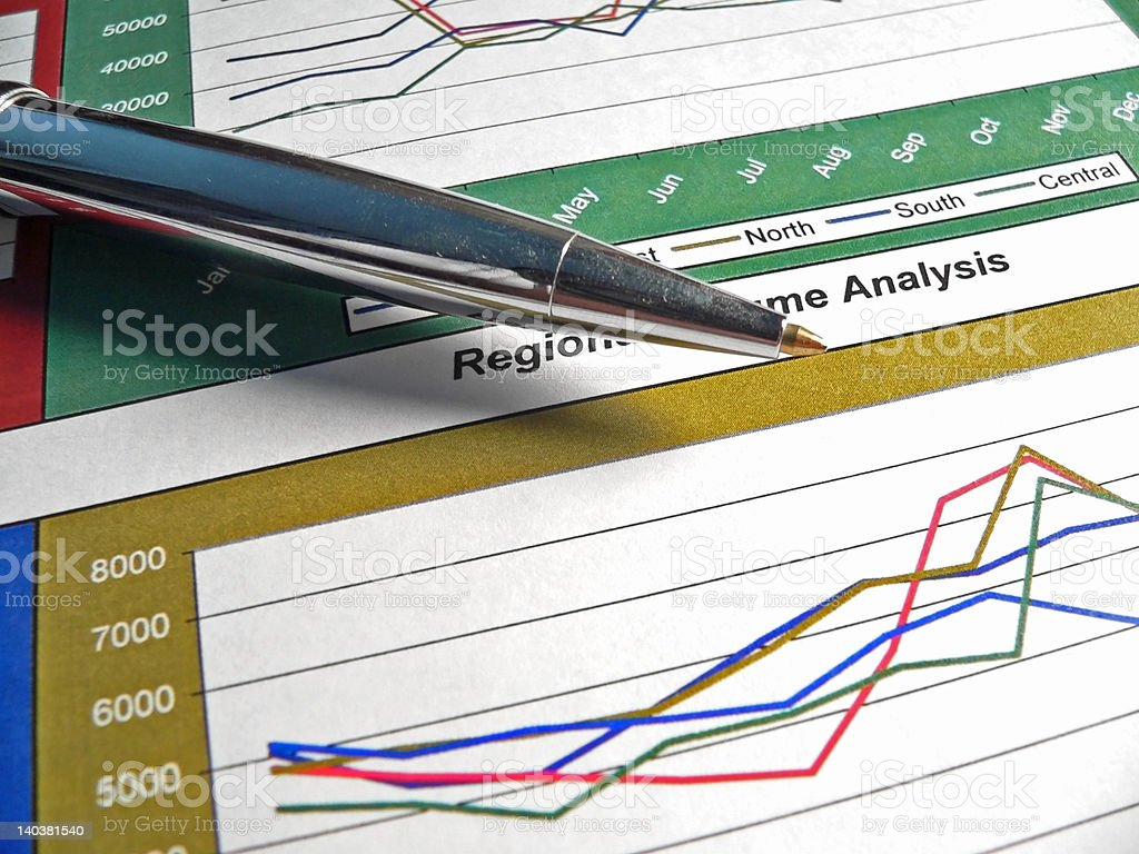 Financial Graph royalty-free stock photo
