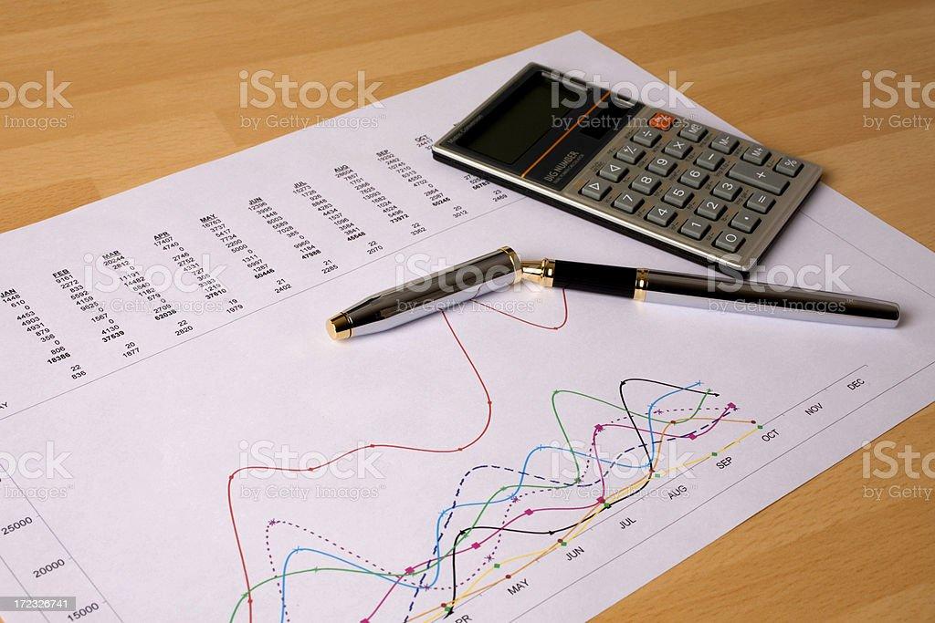 Financial Graph royalty-free stock photo