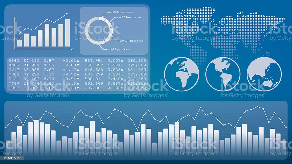 Financial Graphics Background stock photo