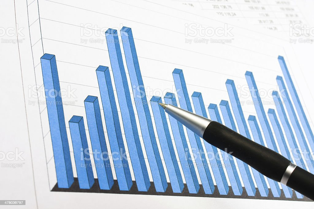 Financial graphs analysis royalty-free stock photo
