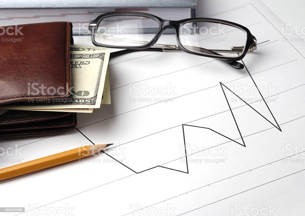 Financial graphs royalty-free stock photo