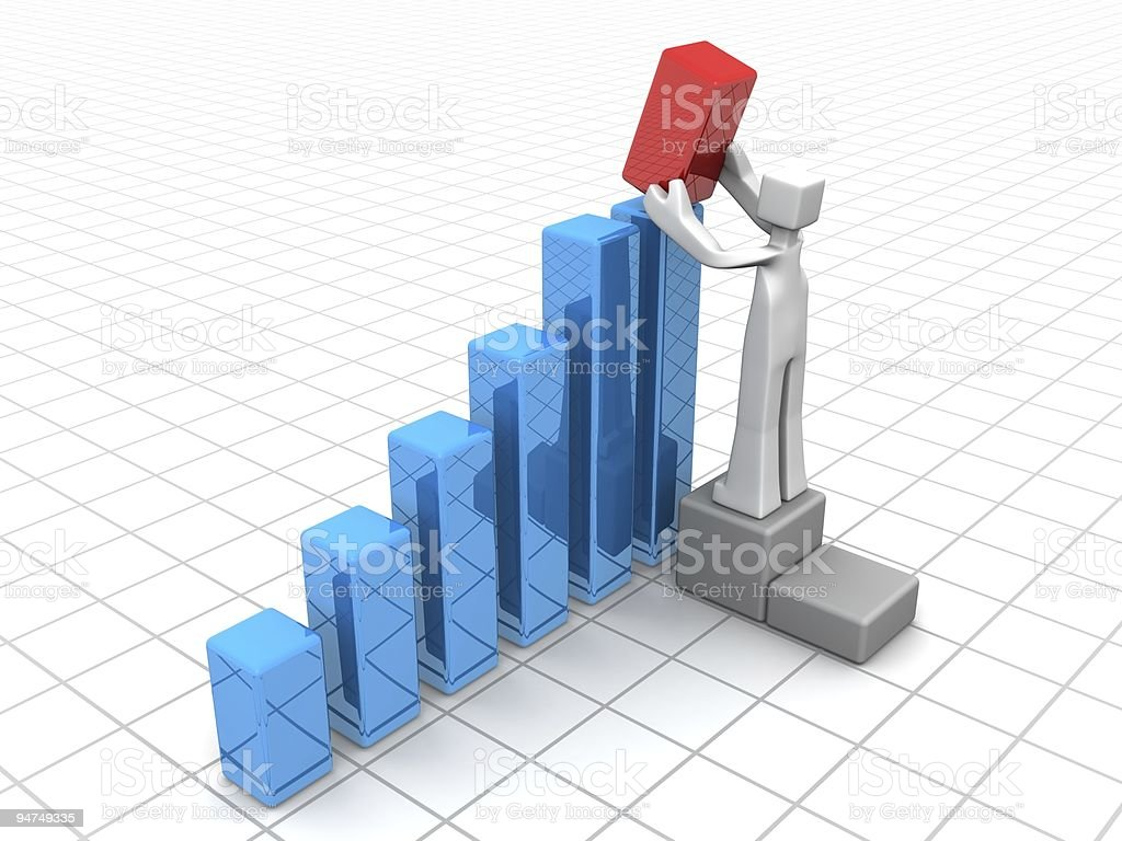 Financial growth or improvement solution royalty-free stock photo