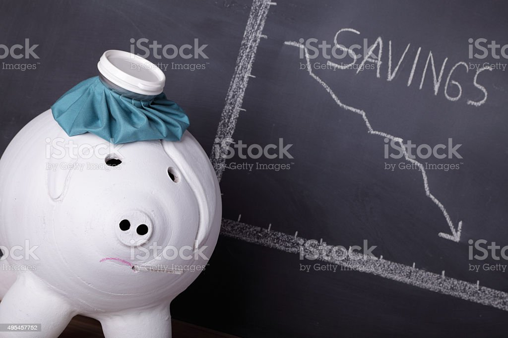 Financial Headache stock photo