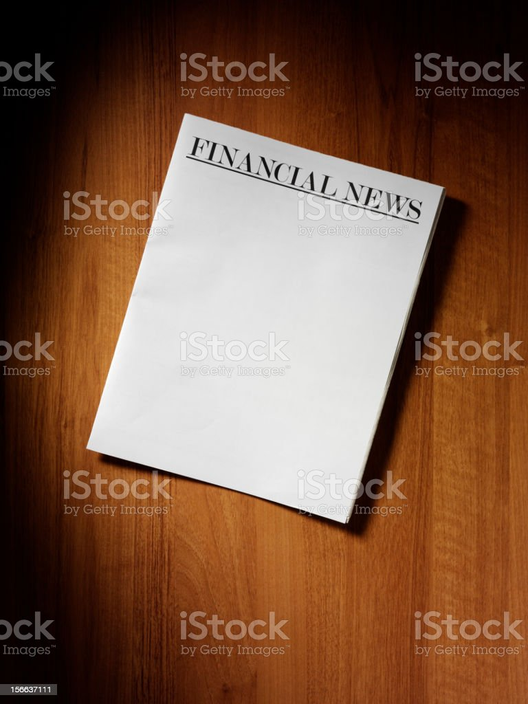 Financial Headline on Paper royalty-free stock photo