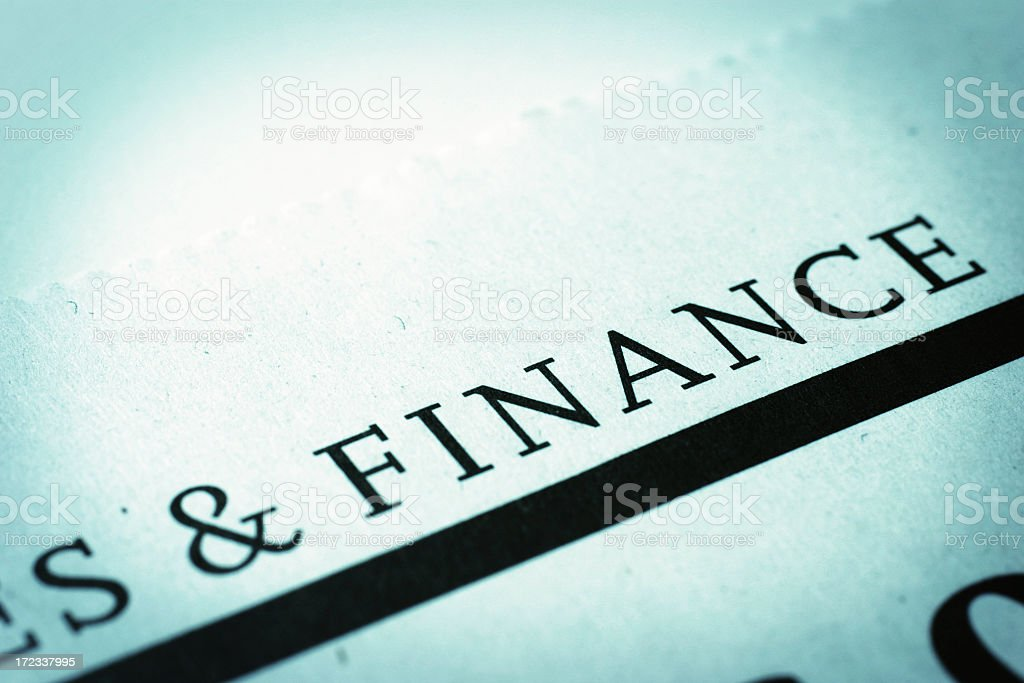 Financial Headline stock photo