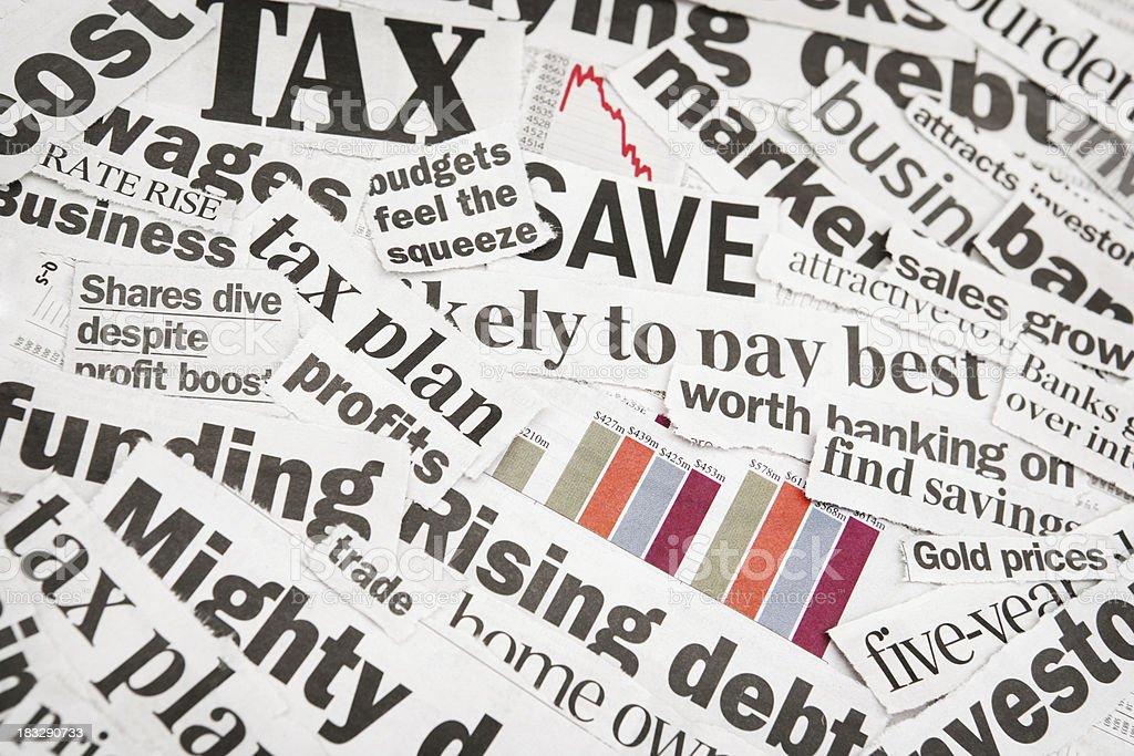 Financial Headlines royalty-free stock photo