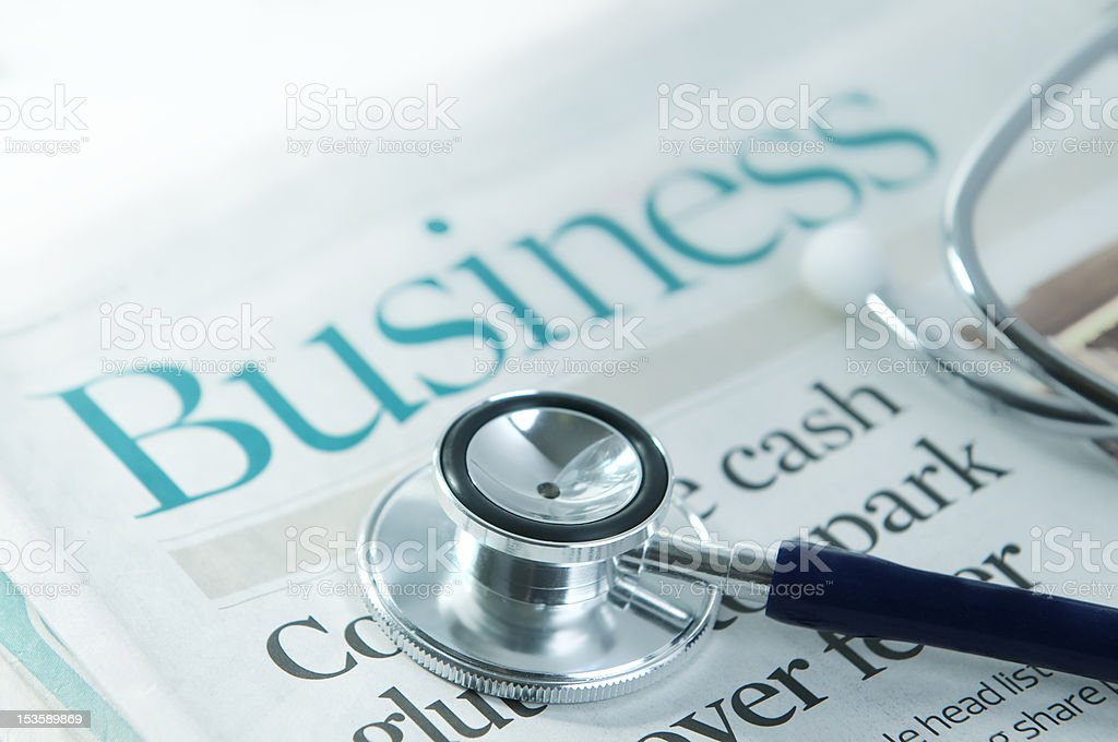 Financial health check royalty-free stock photo