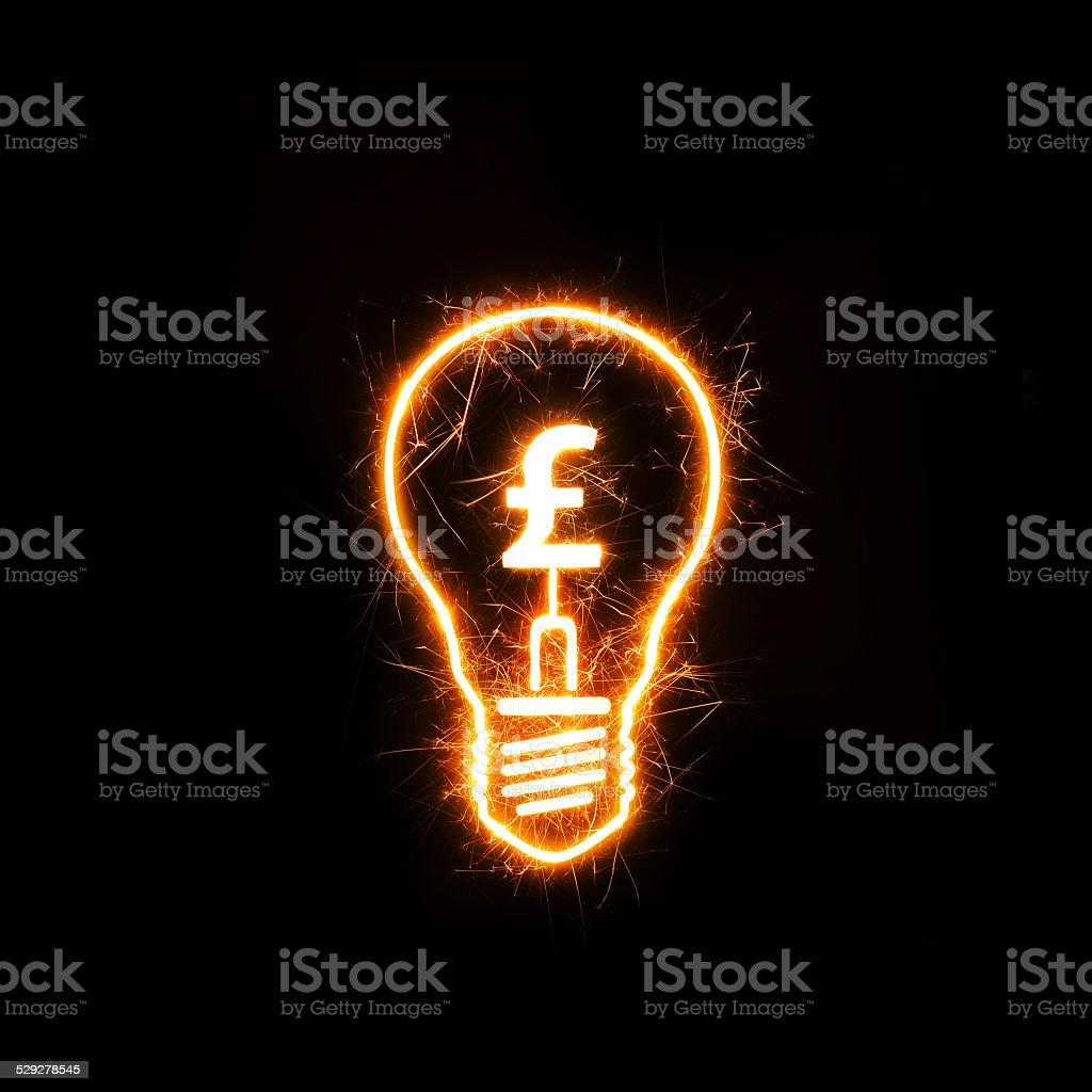 Financial ideas - British Pound stock photo