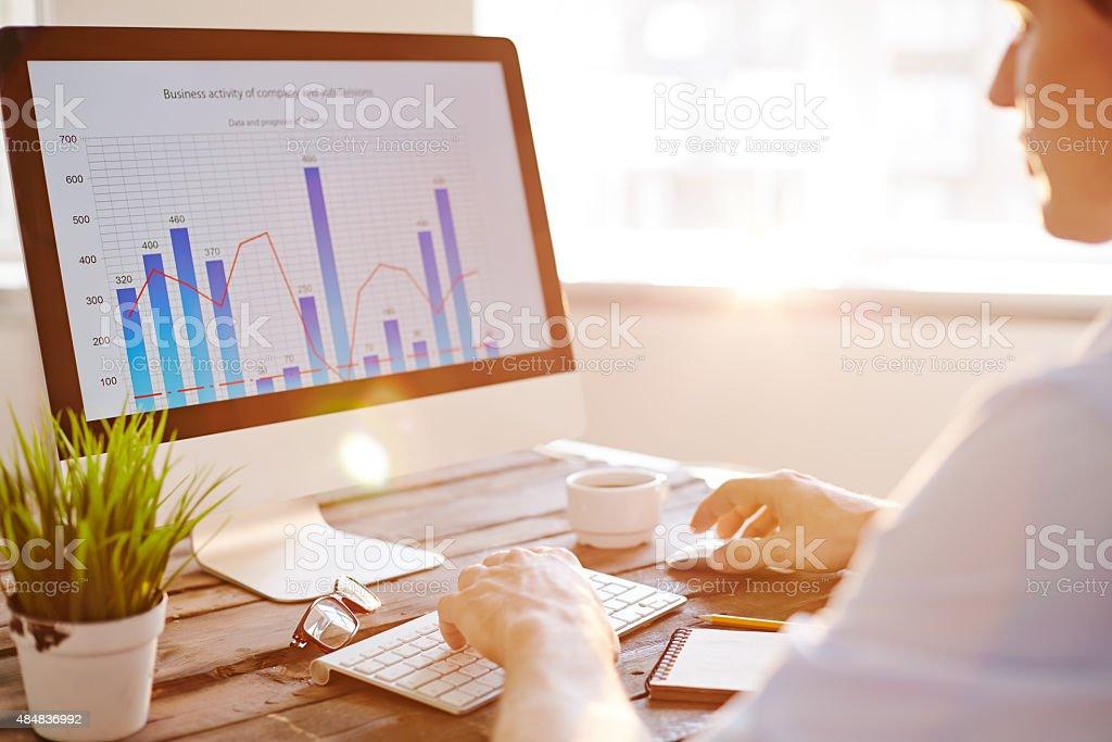 Financial increase stock photo