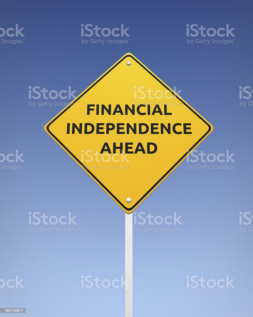 Financial Independence Ahead XL+ royalty-free stock photo
