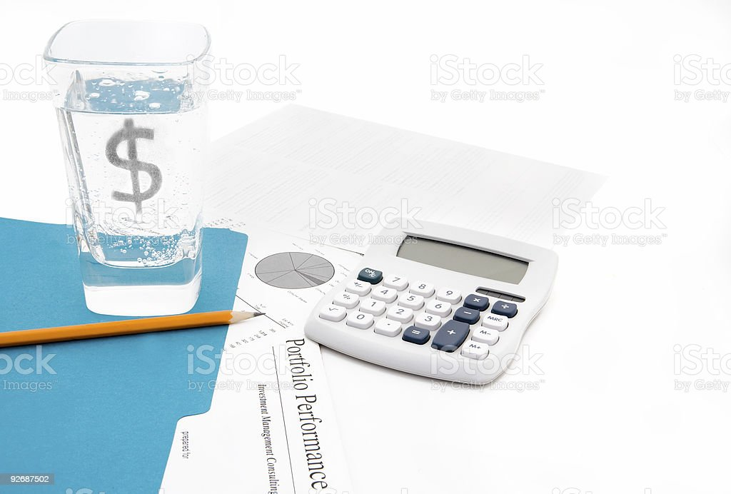 Financial Indigestion royalty-free stock photo