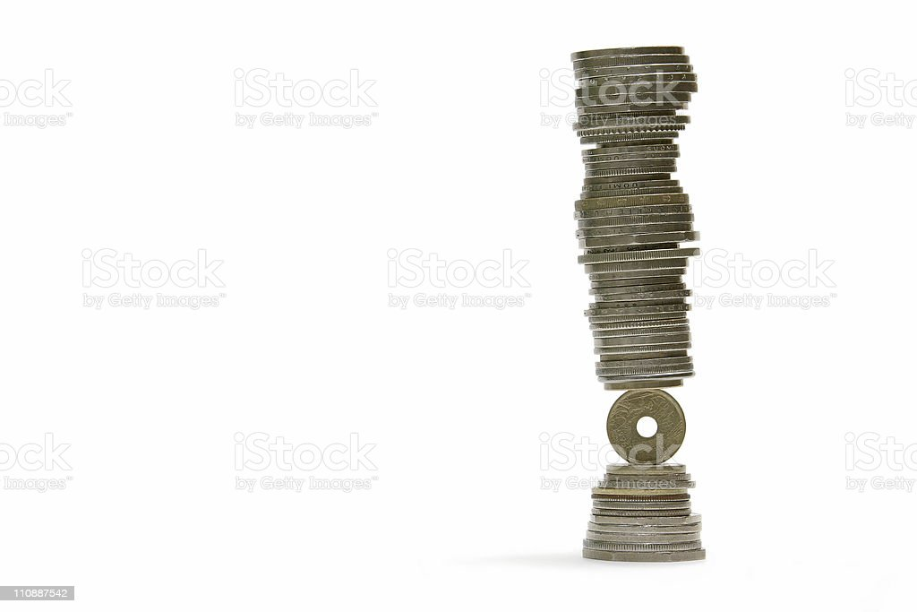 Financial instability royalty-free stock photo