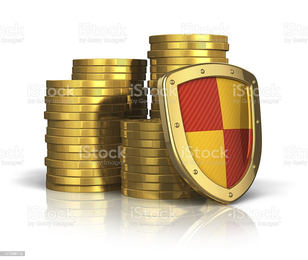 Financial insurance and business stability concept stock photo