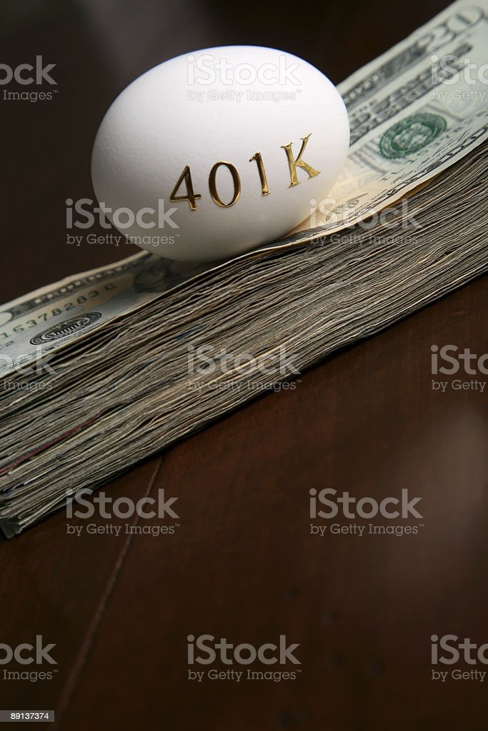 Financial investing in a 401k royalty-free stock photo