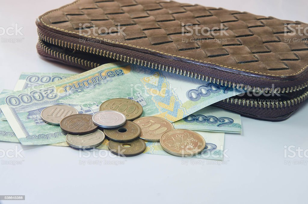 Financial investments across different currencies stock photo