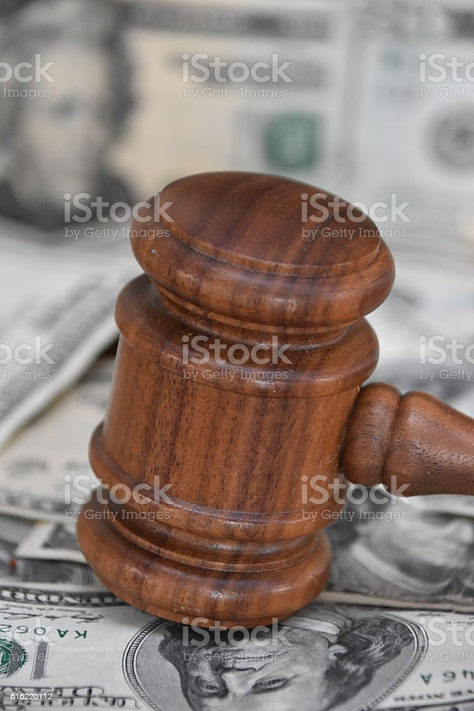 Financial judgment stock photo