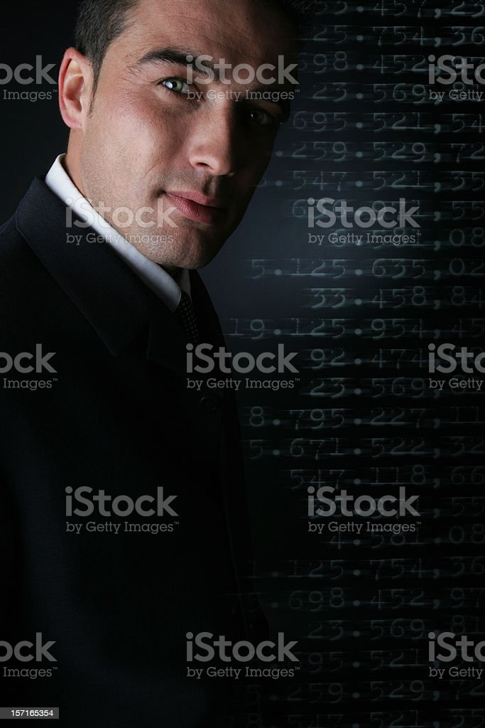 Financial man stock photo