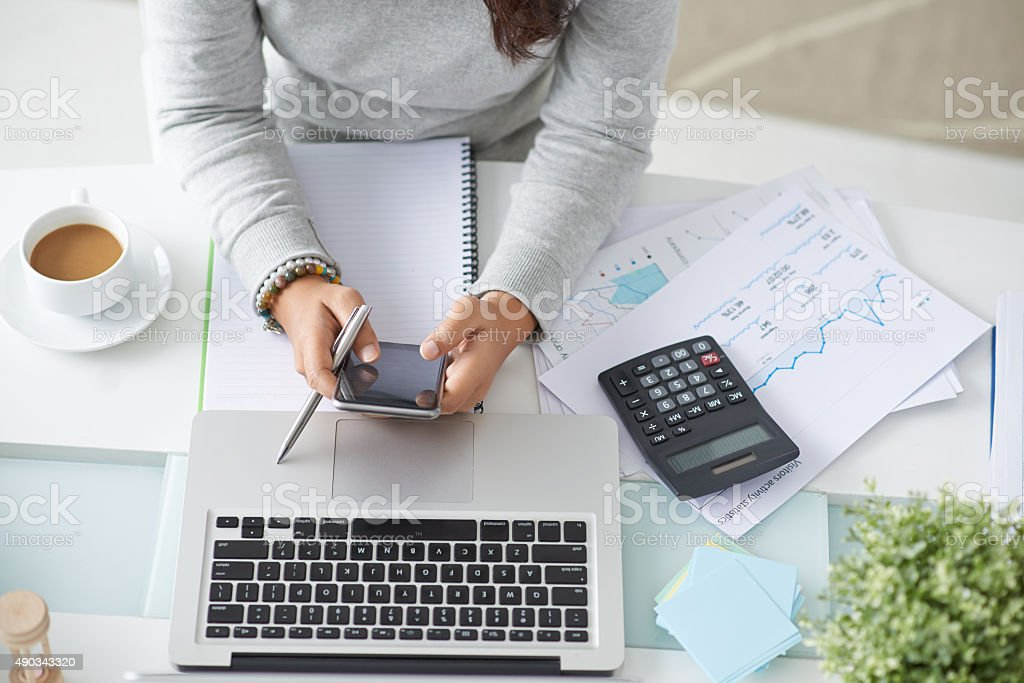 Financial management stock photo
